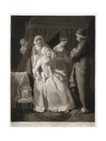The Virtuous Comforted by Sympathy and Attention, Print Made by Valentine Green, 1775 Giclee Print by Edward Penny