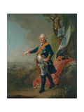 Frederick II, Landgrave of Hesse-Kassel, in the Officer's Uniform of the 45th Prussian Infantry… Giclee Print by Johann Heinrich Tischbein