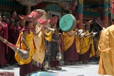 A Monastic Orchestra Accompanying Masked Dancers at the Annual Tshechu Festival, Hemis Monastery,… Photographic Print