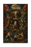 Allegory on the Reign of the Emperor Matthias, 1614-15 Giclee Print by Aegidius Sadeler Or Saedeler