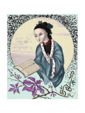"Pan-Hoei-Pan (89-106). Chinese Intellectual. Portrait. ""The Spanish and American Illustration"",… Giclee Print"