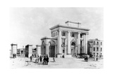 Entrance to Birmingham Station, 1838 Giclee Print by John Cooke Bourne