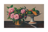 Still Life with Flowers and Fruit Giclee Print by Felix Elie Tobeen