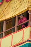 A Monk Watching the Dances from a Decorated Wooden Balcony, Annual Tshechu Festival, Hemis… Photographic Print