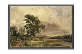View in Staffordshire, Near Stone Giclee Print by Peter De Wint