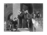 Strafford's Farewell, Print Made by S. Bull, 1844 Giclee Print by George Cattermole