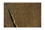 Greek Script. Lintel with Inscription of Emperor Justinian. Marble. 538 A.C. Miletus. Market… Giclee Print