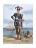 Francisco Pizarro Y Gonzalez, 1st Marquess of Los Atabillos (C.1471 or 1476-1541). Spanish… Giclee Print