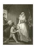 Lady Jane Grey Declining the Crown Giclee Print by Robert Smirke