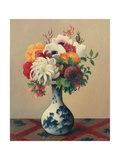 Still Life with Flowers in a China Vase Giclee Print by Felix Elie Tobeen