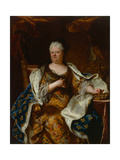Elisabeth Charlotte (Liselotte) of the Palatinate, Duchess of Orléans with Crown and Ermine… Giclee Print by Hyacinthe Rigaud