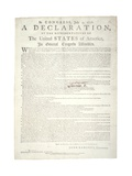 Declaration of Independence, Charleston, C.2 August 1776 Giclee Print