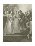 Charles II Receiving the Duchess of Orleans at Dover Giclee Print by Thomas Stothard
