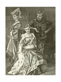 King Henry Fifth. Act V, Scene II Giclee Print by Felix Octavius Carr Darley