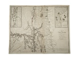 A Map of the Province of New York with Part of Pensylvania, and New England, from an Actual… Giclee Print by John Montresor