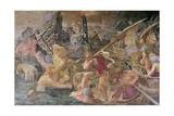 The Vengeance of Nauplius, 1535-40 (Detail) Giclée-tryk af Giovanni Battista Rosso Fiorentino