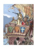 James I the Conqueror (1208-1276). Count of Barcelona and King of Aragon (1213-1276), Valencia… Giclee Print