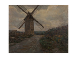 Windmill, Grey Weather Giclee Print by Henri Duhem