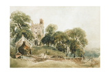 Entrance to Haddon Hall Giclee Print by Peter De Wint