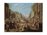 The Turmoils in Rome after the Death of Caesar Giclee Print by Jacques Ignatius De Roore
