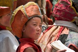 A Young Boy Holding a Khata Scarf at the Annual Tshechu Festival, Hemis Monastery, Ladakh Photographic Print