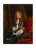 Elisabeth Charlotte (Liselotte) of the Palatinate, Duchess of Orléans, in Hunting Dress, C.1678 Giclee Print by Louis Ferdinand Elle