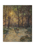 Cart in a Wood Giclee Print by Henri Duhem