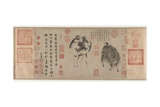 Sheep and Goat, Yuan Dynasty, C.1300 Giclée-Druck von Zhao Meng-Fu