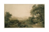 A Distant View of Ullswater, C.1820 Giclee Print by Peter De Wint