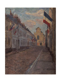 Street Decked with Flags Giclee Print by Henri Duhem