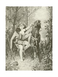 Venus and Adonis. Poems Giclee Print by Felix Octavius Carr Darley
