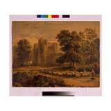 Kenilworth Castle, C.1820 Giclee Print by David Cox