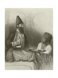 A Persian Prince, His Slave Bringing Him Sherbet Giclee Print by Sir David Wilkie