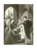 Prince John's Submission to Richard I Giclee Print by Benjamin West