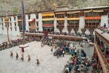 Masked Dancers and Spectators at the Annual Tshechu Festival, Hemis Monastery, Ladakh Photographic Print