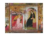 The Annunciation, Fresco from the Porziuncola, 1393 Wydruk giclee autor Ilario da Viterbo