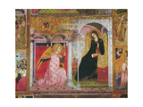 The Annunciation, Fresco from the Porziuncola, 1393 Giclee Print by  Ilario da Viterbo