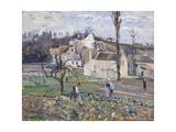 Cabbage Patch Near the Village, 1875 Reproduction procédé giclée par Camille Pissarro