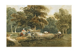 Timber Sawing, C.1820 Giclee Print by Peter De Wint