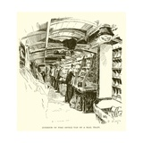 Interior of Post Office Van on a Mail Train Giclee Print by J. R. Sinclair
