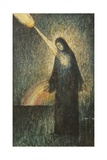 A Woman Lit by a Rainbow Giclee Print by Felix Elie Tobeen