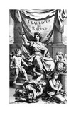 Title Page to 'tragedies De Racine', Engraved by Sebastien Le Clerc, 1676 Giclee Print by Charles Le Brun