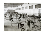 Spanish Industry, 1958. Moto Guzzi Hispania. Emtisa Factory. Assembly Section of Motorcycles.… Giclee Print