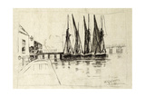 Greaves' Boatyard, Lindsay Wharf, Chelsea, 1870 Giclee Print by Walter Greaves