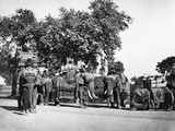 A Group of H E the Viceroy's Elephants and their State Trappings, C.1860s Photographic Print by Samuel Bourne