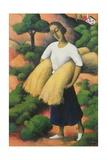 Peasant Harvest Giclee Print by Felix Elie Tobeen