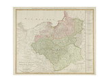 Map of the Kingdom of Prussia and the Duchy of Warsaw, 1810 Giclee Print by Daniel Friedrich Sotzmann
