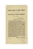 Andrew Johnson on Negro Suffrage, His Letter to Gov. Sharkey of Mississippi, 15 August 1865 Giclee Print by Andrew Johnson