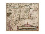 Novi Belgi Novaeque Angliae [New Netherland and New England], 1682 Giclee Print by Nicolaes the Younger Visscher