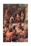 Primitive Justice: an Appeal to the Head of the Tribe Giclee Print by Charles Mills Sheldon